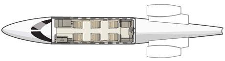 Learjet 40 floorplan