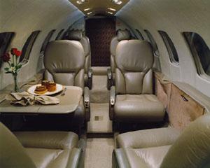 Charter Light Jets Citation Bravo interior