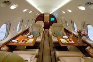 Private jet interior in Boise